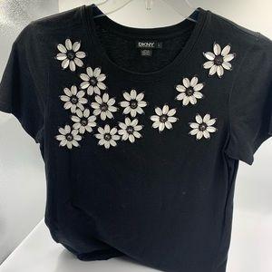 DKNY Flower shirt SZ L